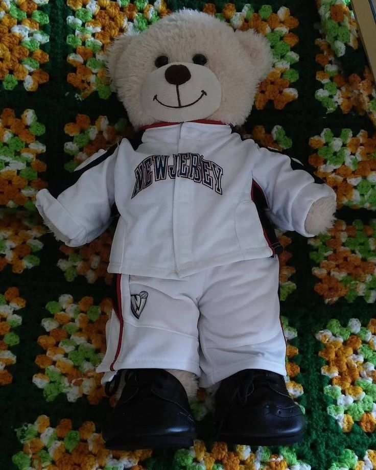 Build a Bear Wearing NEW JERSEY NBA BASKETBALL outfit Black Shoes #BuildaBear