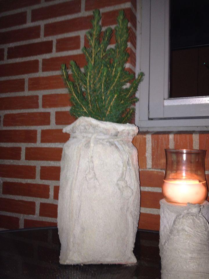 Sæk af beton til lille juletræ