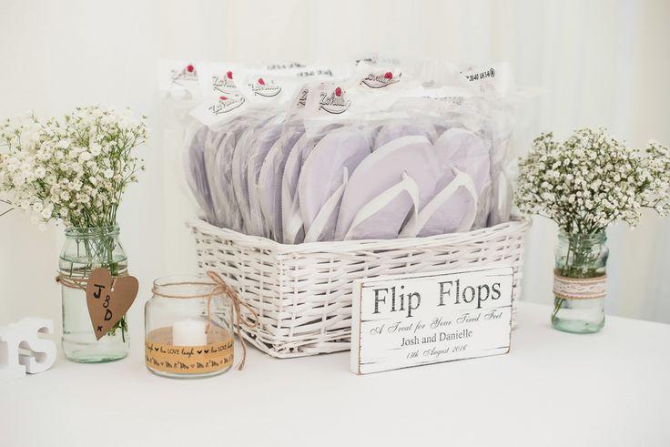Wedding flip flops box with sign