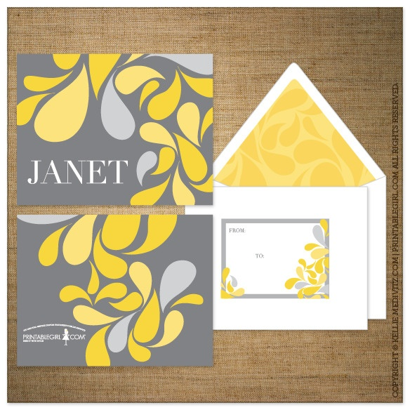 $5.00 Printable Option | Personalized Stationery {Park Paisley}