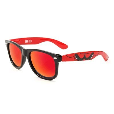Society43 Chicago Bulls Sunglasses - Black/Red