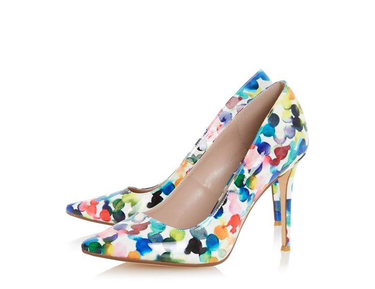 This bubble print court shoe will add a playful finish to your look. Features a…