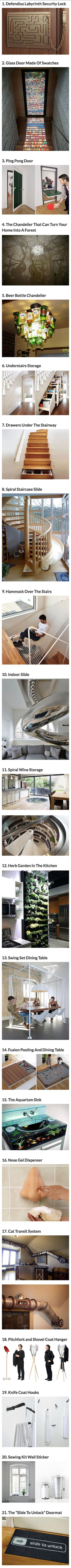 Love the doorlock , swing table and sink more than the others.