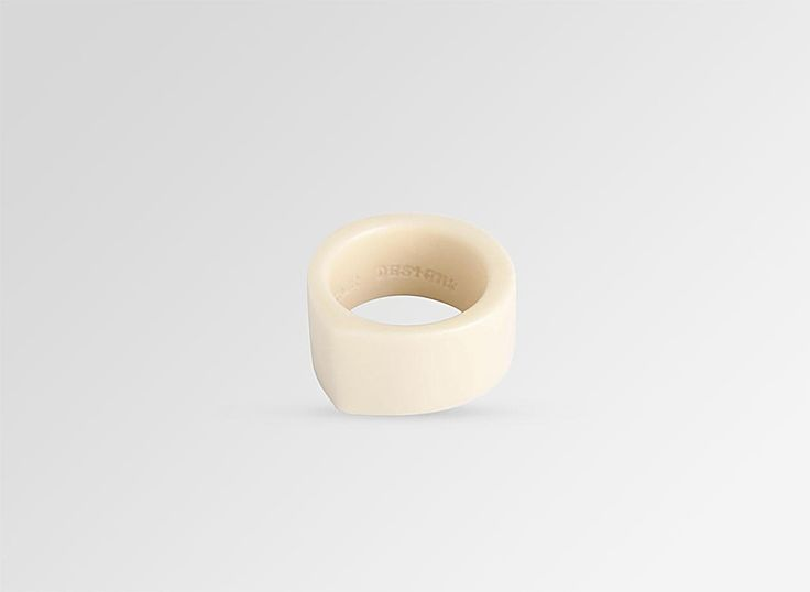 Resin Bucco Ring - Ivory Size P - Dinosaur Designs AU Store $50