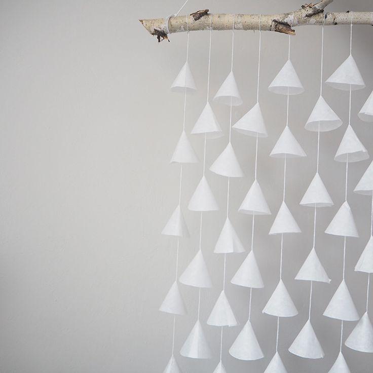 Zerknij tylko na te delikatne bibułkowe dzwoneczki, które zakołyszą się nawet pod wpływem bliskiego oddechu. Spójrz tylko na tą naturalną brzozę, która wprowadzi do Twojego wnętrza naturalny klimat rodem ze Skandynawii. Patrz na nie bezustannie jak wiszą na jednej ze ścian (i nie tylko) w Twoim domu i cudownie komponują się ze wszystkim dookoła.