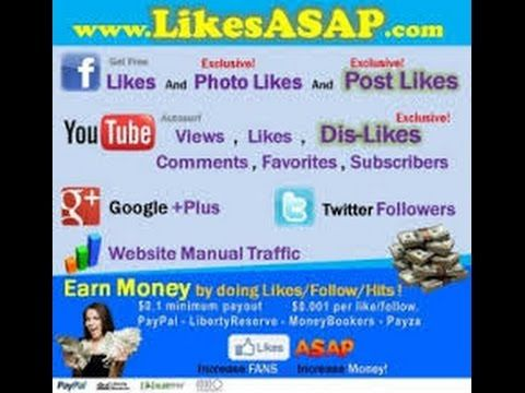 Kiếm tiền online likesasap (có tool tự động) autu like FB,twiter-youtube - YouTube