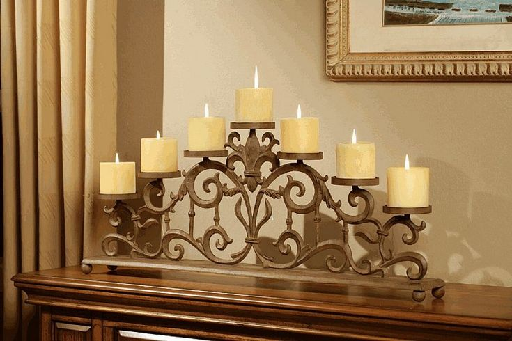 Fireplace candles and Fireplace design