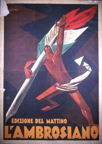 L'ambrosiano edizione del mattino, Mario Sironi, 1934