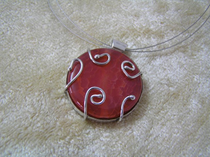 Silver pendant with gem stone by StoneSeeds on Etsy