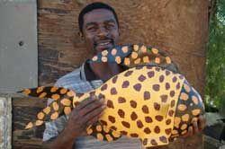 Themba Masala with Paper Mache Fish