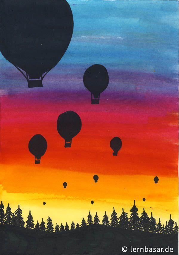 Ballonfahrer – Acrylmalerei Ideen