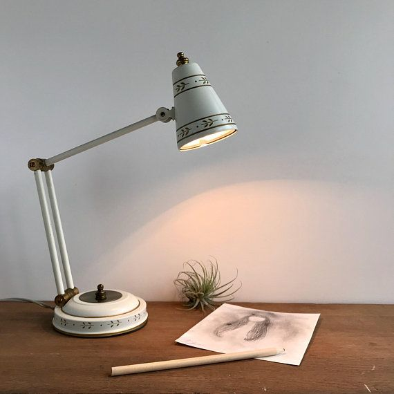 Small Vintage Desk Lamp Small Adjustable Lamp Small Metal
