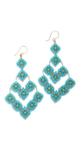 Miguel Ases Beaded Arrow Earrings | SHOPBOP