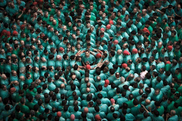 Human Tower Competition, by David Oliete