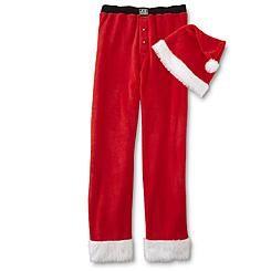 Joe Boxer Men's Christmas Pajama Pants & Santa Hat