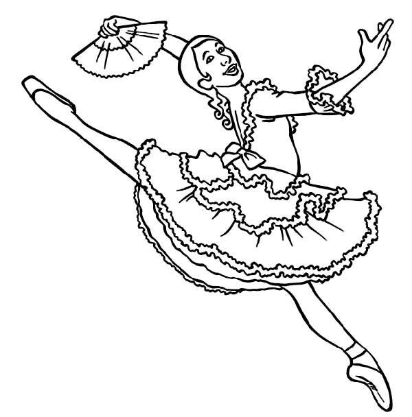 25 unique Ballerina coloring pages