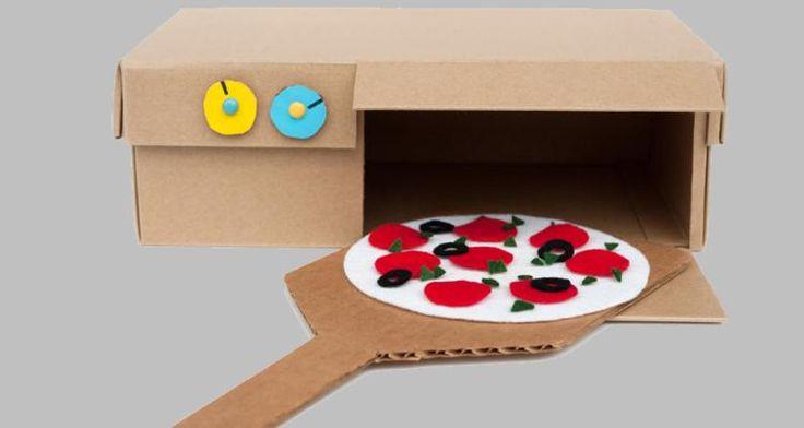 Eerst lekker knutselen om je eigen pizzaoven te maken en daarna de meest lekkere pizza's maken. Het is een eenvoudige knutsel die veel speelplezier oplevert