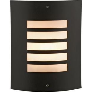 30 best outdoor lighting images on pinterest applique sconces hattie black flush outdoor wall light from homebase mozeypictures