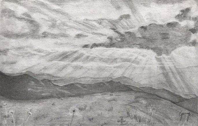 Landscape Pencil Drawing Landscape Pencil Drawings Pencil Drawings Graphite Drawings