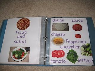Learn to read recipe book . Dramatic play