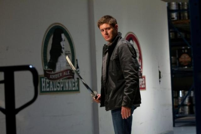 Dean with katana in Supernatural