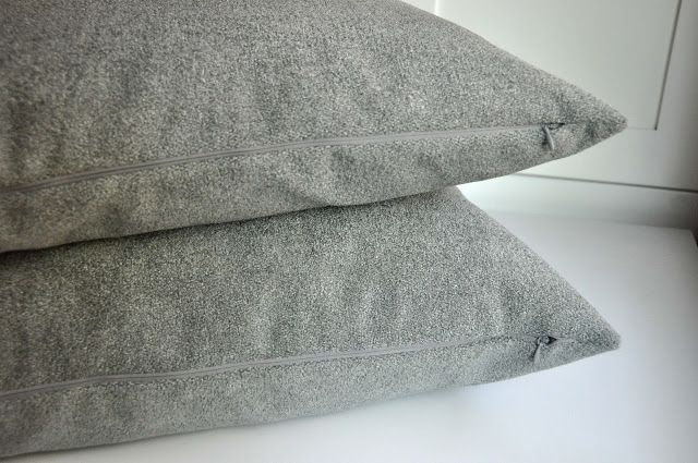 Aesthetic Nest: Sewing: Pillow Covers with Invisible Zippers (Tutorial)