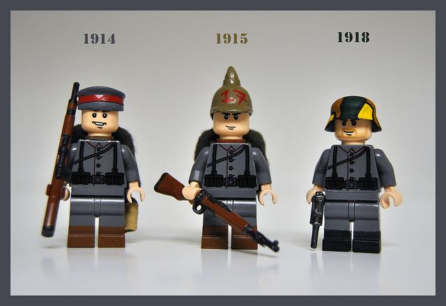 Lego German soldiers from WW1