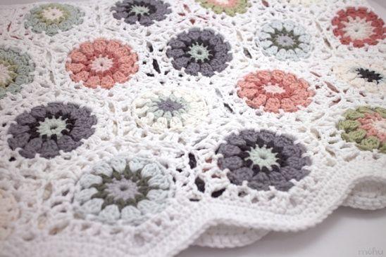 Crochet hexagon blanket by mohu | Project | Crochet | Home ...
