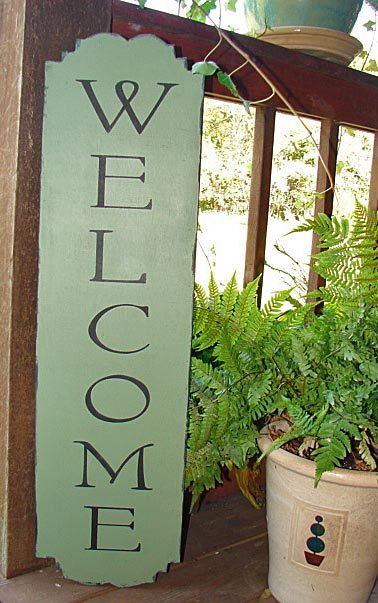 WELCOME Sign Stencil Vertical or Horizontal - 7 sizes to choose from- Create Welcome Signs!