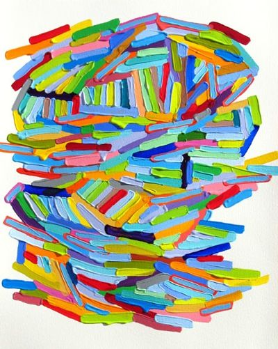 Such a bright, colorful piece by Martina Nehrling. Makes me smile.