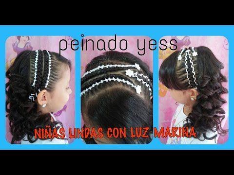 PEINADO INFANTIL/ TRENZA DE 4 CABOS CON CINTA/ Peinados Rakel  11 - YouTube