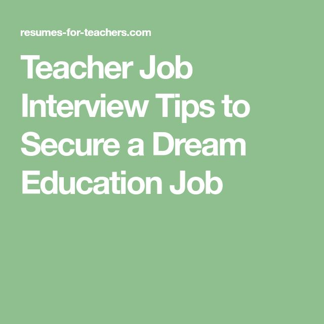 teaching job interview questions pdf