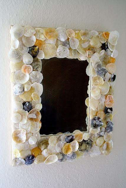 D.I.Y seashell mirror