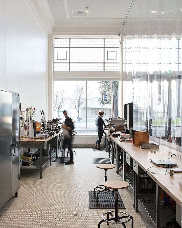 Jensen Architects Converts Automobile Showroom Into Blue Bottle Coffee | Projects | Interior Design