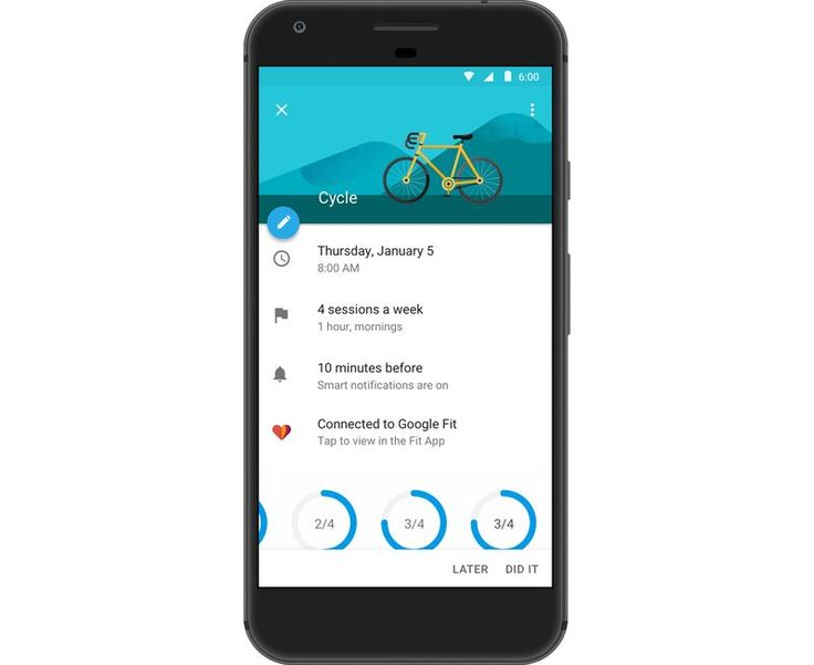 Google Takvim uygulaması fitness hedeflerinize ulaşmada yardımcı oluyor  http://www.teknoblog.com/google-takvim-uygulamasi-hedefler-fitness-139932/