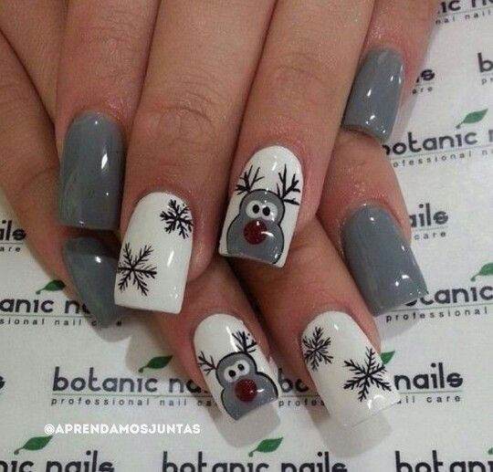 Rennes #noël Rudolphe #nails #ongles pinterest: @idoontcaare
