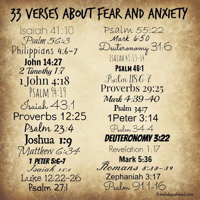 33 Verses about Fear and Anxiety to Remind Us: God Is in Control
