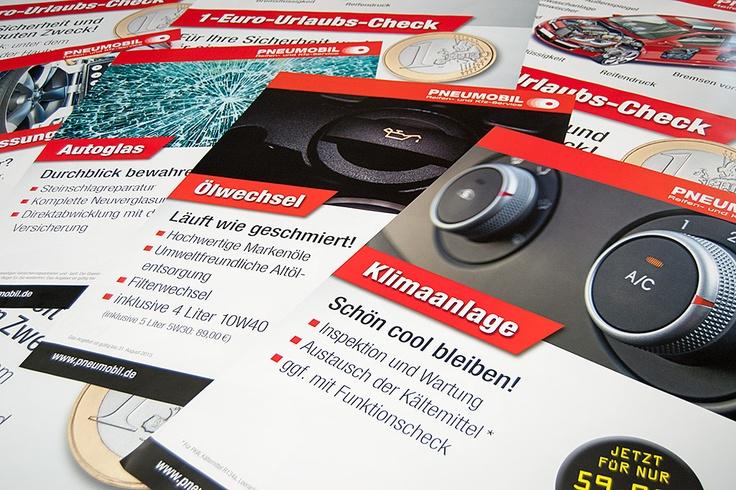 Knackige Infos im Großformat für den Ausstellungsraum und/oder das Schaufenster - für unseren Neu-Kunden Pneumobil