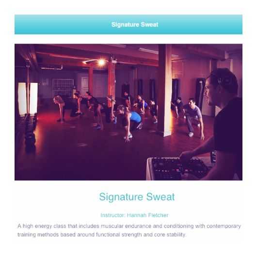 Signature Sweat, get your workout to another level by adding great beats and a professional  swing to your moves.