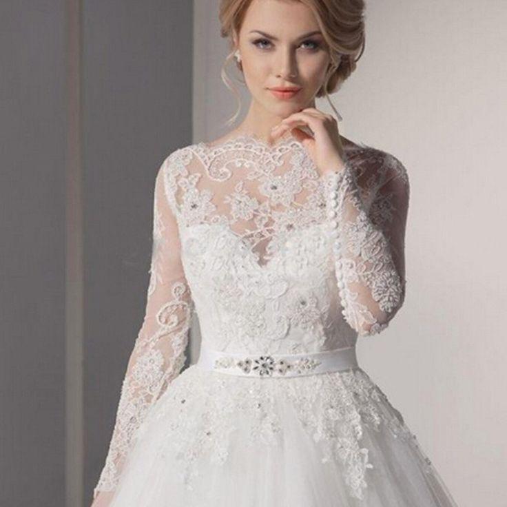Fabulous Vestido De Noiva Renda Romantic Long Sleeve Mermaid Lace Wedding Dresses Vintage Wedding Dress Vestido