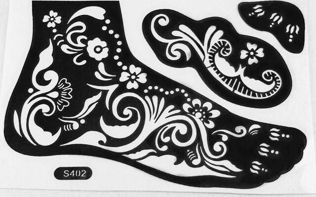 2016 New Henna Tattoo Stencil Tattoo Paste Temporary Reuse Henna Tattoo Template Foot Painting Art Both Foot 16 Model Choose Paper For Temporary Tattoos Printer Tattoo Paper From Hopewell_zhang, $2.38| Dhgate.Com