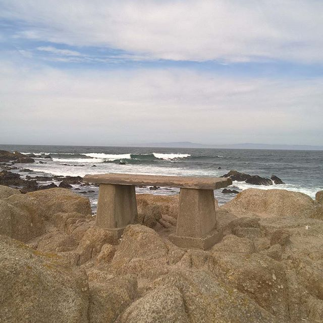 Stone bench on the cliffs, Pacific Grove, California #bench #pacificgrove #monterey #oceanview #oceanside #oceanside #seaside #seascape #seashore #californiadreaming #montereylocals #pacificgrovelocals- posted by Claire Fullerton Author https://www.instagram.com/cffullerton. See more of Pacific Grove, CA at http://pacificgrovelocals.com