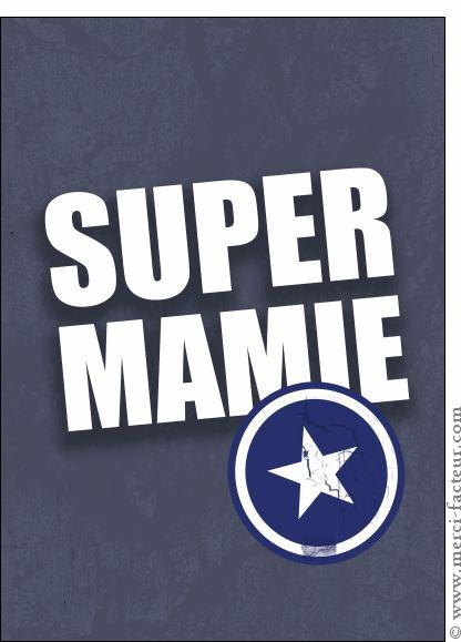 Carte Super mamie Captain America pour envoyer par La Poste, sur Merci-Facteur ! #carte #fêtedesgrandsmères