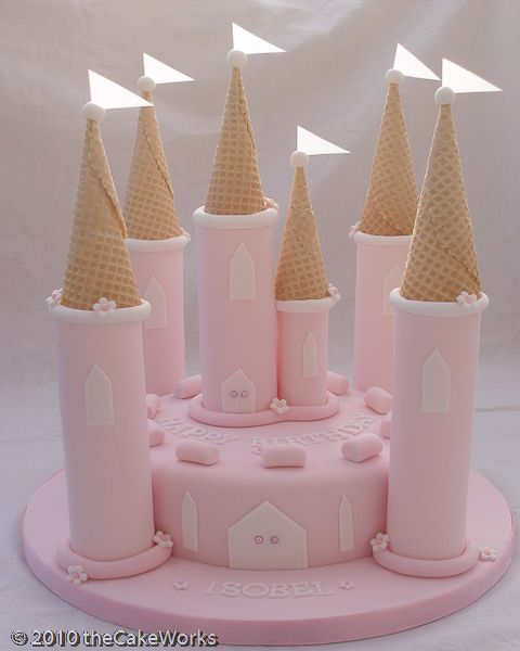 easy fairy castle cake - Google Search