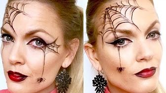Halloween Makeup: Spider Web Mask tutorial - YouTube