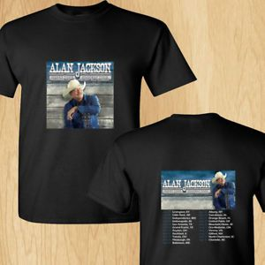Alan Jackson Honky Tonk Highway north american tour concert 2018 black tees; Tshirt 100% Cotton; Available Men's size S-3XL;