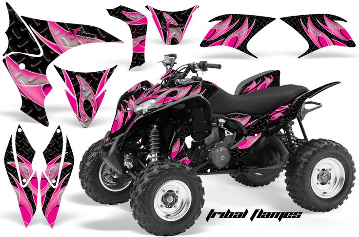 Honda TRX 700 Graphics TRIBAL-FLAME PINK BLACK
