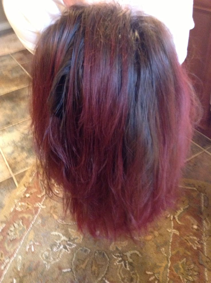 Cat B's kool aid dip dye! I have SUPER dark hair and guess