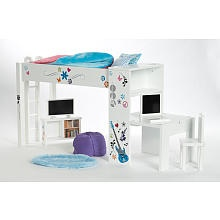 Journey Girls Classic 18 inch Doll Bedroom Set loft bed