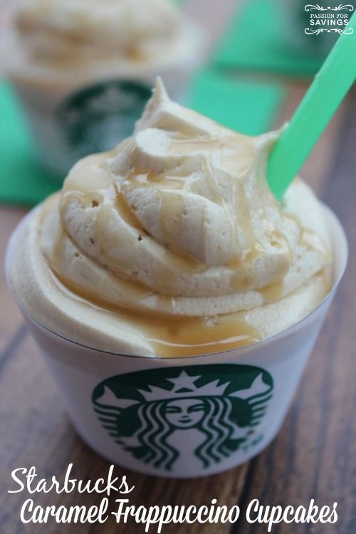 Black Friday Staff Pleaser!! Starbucks Caramel Frappuccino Cupcakes Recipe